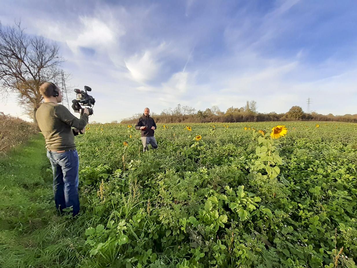Tournage video reportage agricole plaine de l Ain