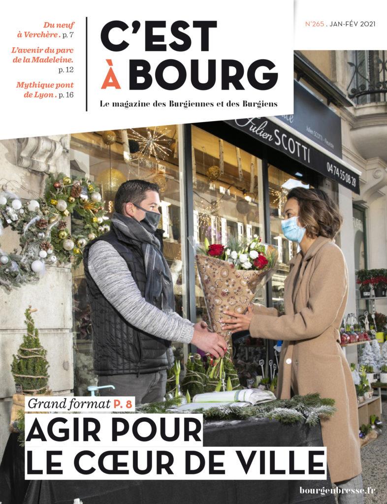 Réalisation de la Une de couverture du magazine C'est à Bourg, de la ville de Bourg-en-Bresse, Ain.